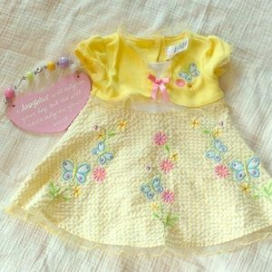 Youngland Baby 18 month yellow butterfly dress